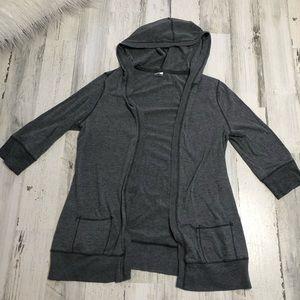 Old Navy Intimates Gray hooded shirt size Medium